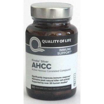 Quality of Life Labs AHCC Kinoko Silver Mushroom 250 mg 60 Vcaps