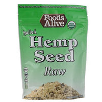 Foods Alive Organic Hulled Hemp Seeds Raw -- 8 oz