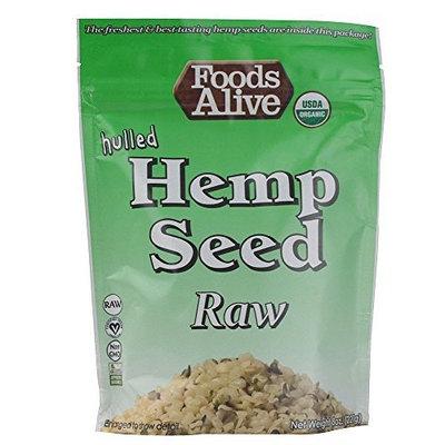 Foods Alive Organic Hulled Hemp Seeds Raw -- 8 oz
