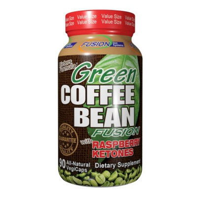 Fusion Diet Systems Green Coffee Bean with Raspberry Ketones, Veggie Caps