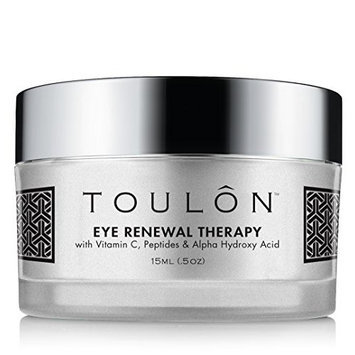 TOULON Eye Cream for Dark Circles and Puffiness. Reduces Lines and Wrinkles with Vitamin C, Peptides & Alpha Hydroxy Acid. Minimizes Crows Feet, Puffy Eyes and Bags