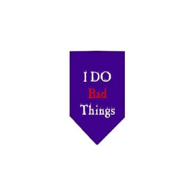 Ahi I Do Bad Things Screen Print Bandana Purple Large