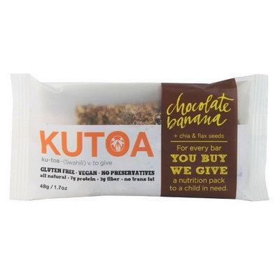 Kutoa Chocolate Banana Bar with Chia and Flax Seeds -- 1.7 oz