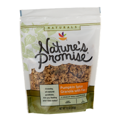 Nature's Promise Granola with Flax Pumpkin Spice
