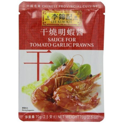 Lee Kum Kee Sauce For Tomato Garlic Prawn, 2.5-Ounce Pouches (Pack of 12)