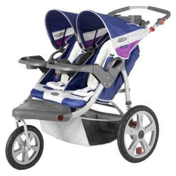 InStep Grand Safari Swivel Jogger Double - Midnight with Grape