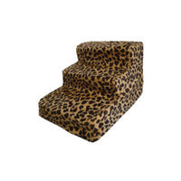 Best Pet Supplies Animal Print 3 Step Pet Stair (Set of 2)