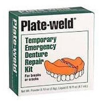 Plate-weld Plate Weld Temporary Emergency Denture Repair Kit - 1 Ea
