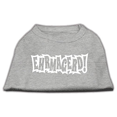 Ahi Ehrmagerd Screen Print Shirt Grey Lg (14)