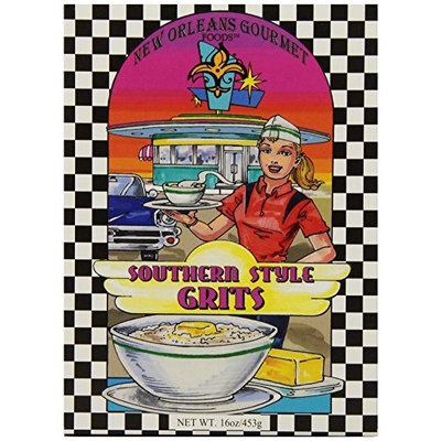New Orleans Gourmet Foods Orleans Gourmet Foods Southern Style Grits, 16-Ounce Boxes (Pack of 4)