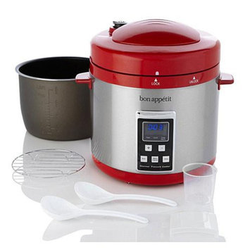 Bon Appetit BAPCR010R 7Qt. Programmable Heavy Duty Pressure Cooker in Red