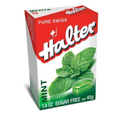 Halter Sugar Free Candies, Mint, 1.4-Ounce (Pack of 8)