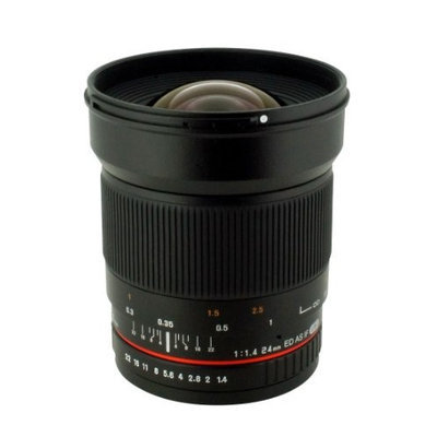 Rokinon 24mm f/1.4 ED AS UMC Wide-Angle Lens for Nikon