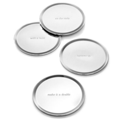 Kate Spade kate spade new york Set of 4 Silver Street Coasters