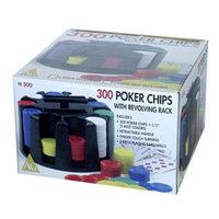 John N. Hansen Company AreYouGame 300 Poker Chips with Revolving Rack