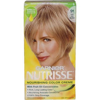 Garnier Nutrisse Haircolor, 91 Light Ash Blonde Ginger Ale