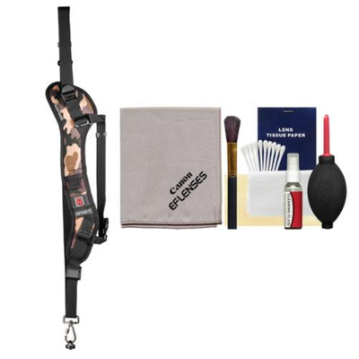 BlackRapid RS-Sport Extreme Sport Camo Sling Camera Strap with Canon Cleaning Kit for Canon Digital SLR Rebel T3, T3i, T4i, T5, T5i, SL1, EOS 6D, 70D, 5D Mark III