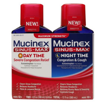 Mucinex Sinus-Max Severe Congestion 2 Pack Day Time & Night Time