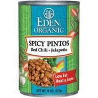 Eden Spicy Pinto Beans 15 Ounces (Case of 12)