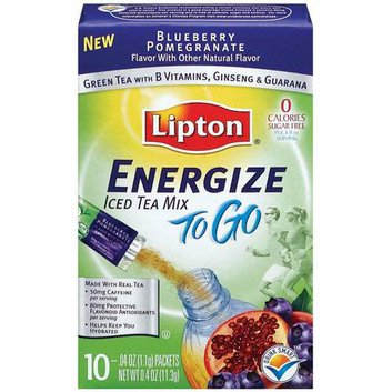 Lipton Blueberry Pomegranate Energize To Go Iced Tea Mix