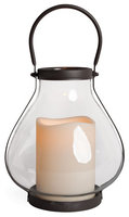 Gerson LED Candle & School House Lantern Set