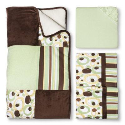 Trend Lab Giggles 3Pc Crib Bedding Set - Sage/Brown by Lab