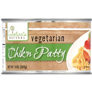 Caroline's Natural Vegetarian Chick'n Patty, 13 oz, (Pack of 12)