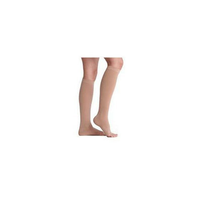 Juzo 2001ADSB14 I I Soft Open Toe Knee High 20-30 mmHg with Silicone Top Band - Beige