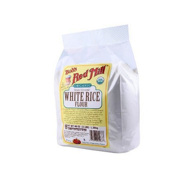 Bob's Red Mill Organic Rice Flour White, 48-Ounce (Pack of 2)