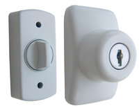 Ideal Security Inc. Keyed Deadbolt Painted in White SKGLKW