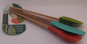 Silicone Assorted 3 Pc Untensil Set Island Bamboo 1 Utensil