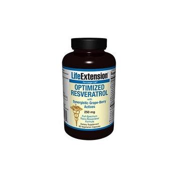 Life Extension Optimized Resveratrol with Pterostilbene | 250 mg, 60 vegetarian capsules (Multi-Pack)