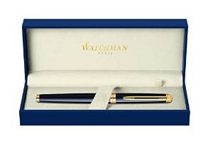 Waterman Hemisphere Essential Black Lacquer GT w/Free Refill Rollerball Pen