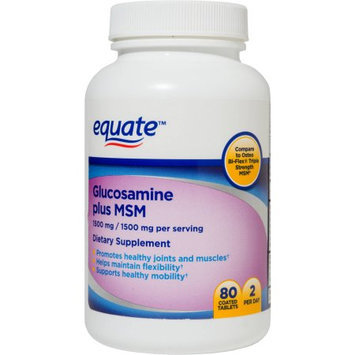 International Vitamin Corporation Equate Glucosamine Plus MSM Dietary Supplement, 1500mg, 80 count