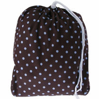 Blueberry Prints Diaper Laundry Bag, Pink on Chocolate (Discontinued by Manufacturer)