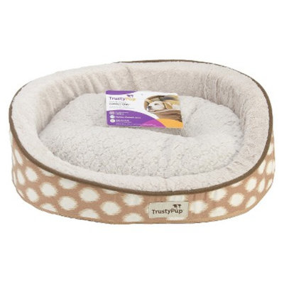 TrustyPup CuddleCrib Pet Bed - Ikat Brown (16