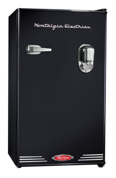 Nostalgia Electrics Retro Beverage Dispensing Refrigerator - Black