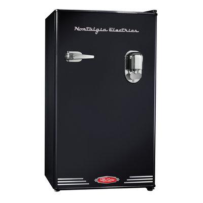 Nostalgia Electrics Retro Beverage Dispensing Refrigerator - Black
