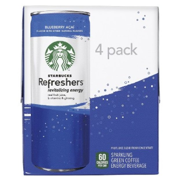 Pepsi Starbucks Refresher Bluberry Acai 4pk 8.4oz