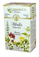 Celebration Herbals Organic Herbal Tea Caffeine Free Alfalfa Peppermint 24 Herbal Tea Bags