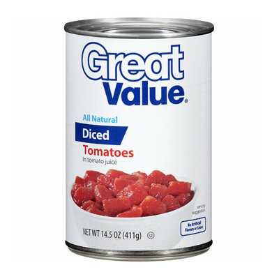 Great Value : All Natural Diced Tomatoes