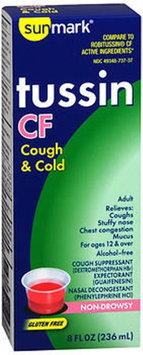 Sunmark Tussin Cf Cough & Cold Liquid, 8 oz by Sunmark