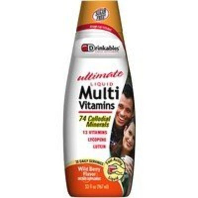Drinkables Multivitamin w/ Minerals Liquid, Wild Berry,33 oz
