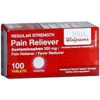 Walgreens Regular Strength Pain Reliever Acetaminophen Tablets