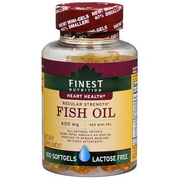 Finest Nutrition Fish Oil 600 mg Dietary Supplement Softgels