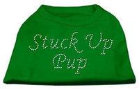 Ahi Stuck Up Pup Rhinestone Shirts Emerald Green XS (8)