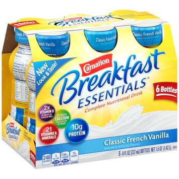Carnation Breakfast Essentials Ready To Drink, Classic French Vanilla, Vanilla, 6 ea