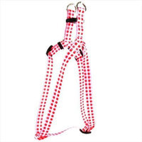 Yellow Dog Design SI-GNR100XS Gingham Red Step-In Harness - Extra Small