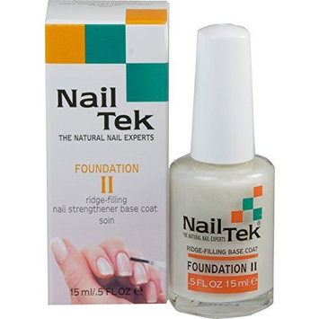 Nail Tek Nailtek Foundation No.2 Ridge-Filling Nail Strengthener Base Coat, 0.5 Fluid Ounce