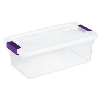 Sterilite 6-qt. Latching Box Plum Set of 12